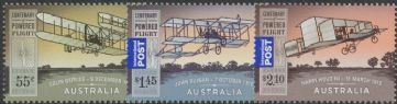 AUS SG3355-7 Centenary of Powered Flight set of 3